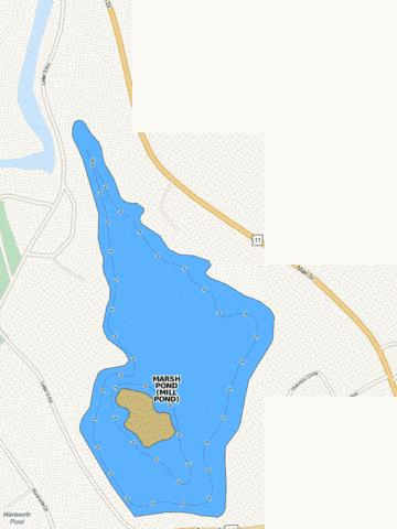 MARSH POND (MILL POND) Fishing Map - i-Boating App