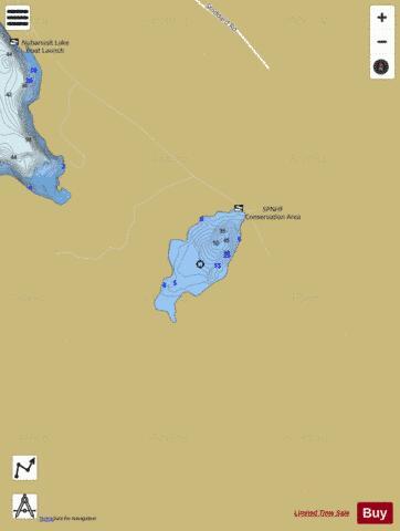 Hunts pond fishing map us nh nhlak700030106 01 for Pond depth for fish