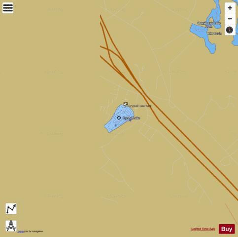 Crystal lake fishing map us nh nhlak700060703 02 01 for Crystal lake fishing