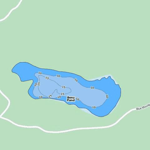 Benz Pond Fishing Map - i-Boating App