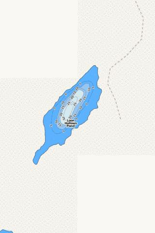 Loon Hollows Pond Fishing Map - i-Boating App