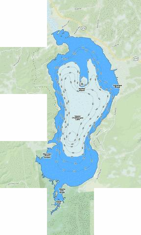 Upper Chateaugay Lake Fishing Map - i-Boating App