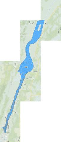 Ballston Lake Fishing Map - i-Boating App