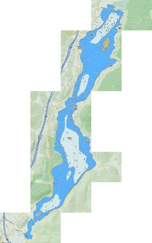 Schroon Lake Fishing Map - i-Boating App