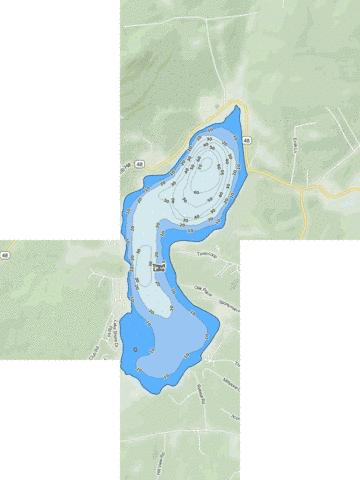 Trout Lake Fishing Map - i-Boating App