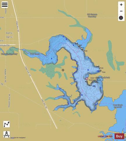 Deer creek reservoir fishing map us oh deer creek for Deer creek fishing