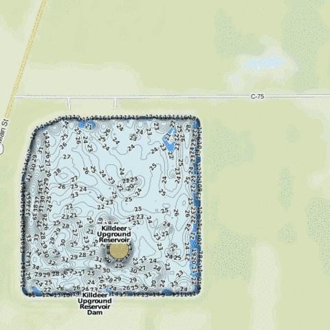 Killdeer Fishing Map - i-Boating App