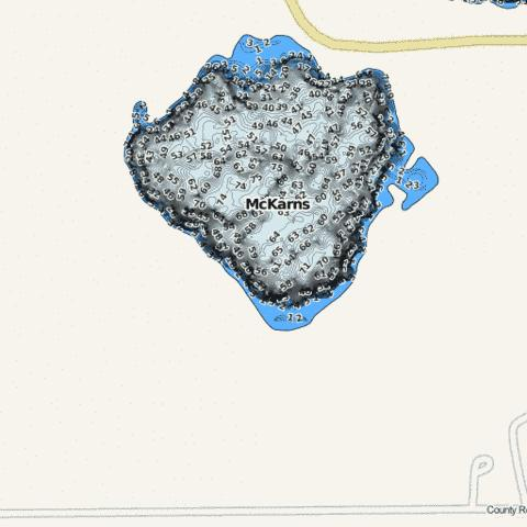 McKarns Fishing Map - i-Boating App