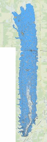 Mosquito Creek Fishing Map - i-Boating App