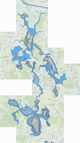Portage Lakes Fishing Map - i-Boating App
