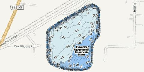Powers Fishing Map - i-Boating App