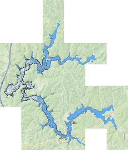 Salt Fork Fishing Map - i-Boating App