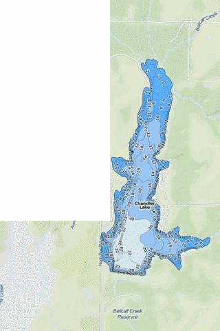 Chandler Lake Fishing Map - i-Boating App