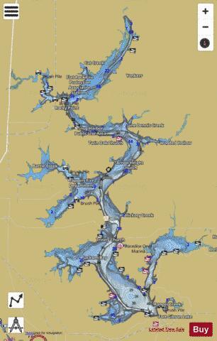 ft gibson lake map Fort Gibson Lake Fishing Map Us Ok Fort Gibson Nautical ft gibson lake map