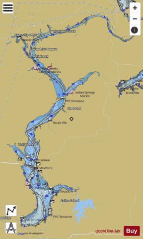 Lake Hudson Markham Ferry Fishing Map USOKhudson - Oklahoma lake map