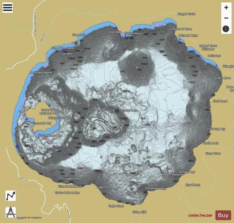 Crater Lake Fishing Map USOR01163669 Nautical Charts App