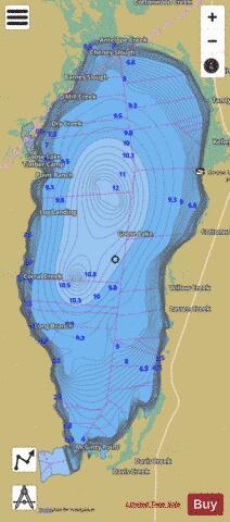 Goose Lake Fishing Map I Boating App
