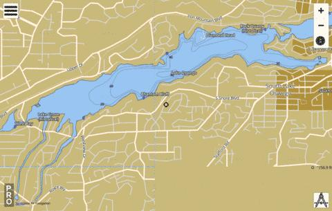 Lake Oswego Fishing Map - i-Boating App