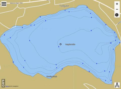 Langdon Lake Fishing Map - i-Boating App