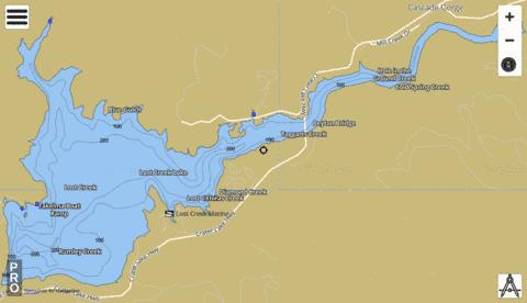 Lost Creek Lake Fishing Map - i-Boating App