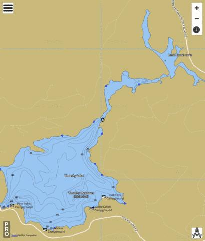 Timothy Lake Fishing Map - i-Boating App