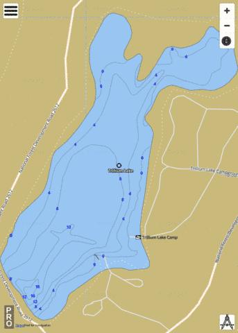 Trillium Lake Fishing Map - i-Boating App