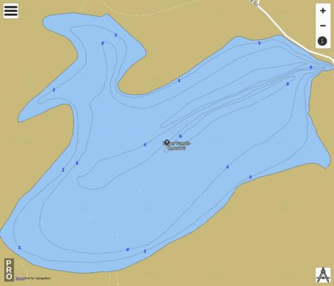 Upper Tumalo Reservoir (Fishing Map
