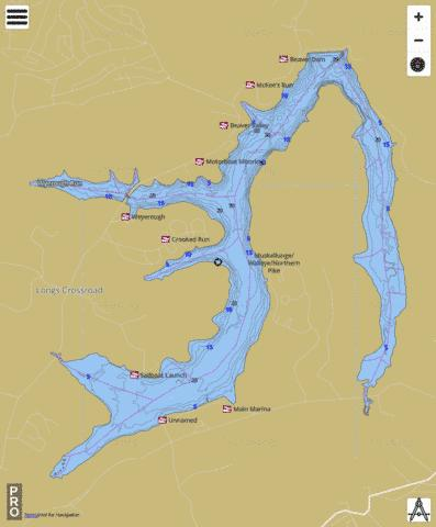 Glendale Lake Fishing Map USPA01175718 Nautical Charts App