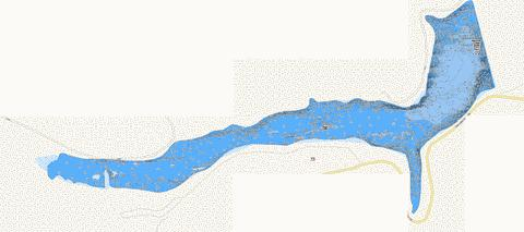 Lake Raccoon/Main Lake Fishing Map - i-Boating App