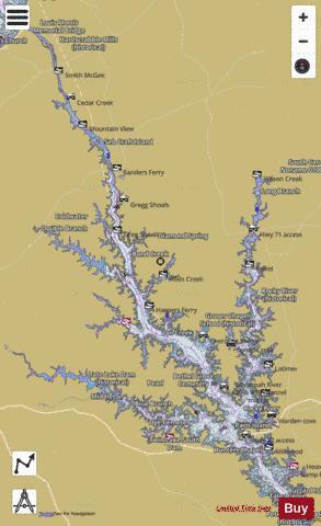 lake hartwell sc map Richard B Russell Lake Fishing Map Us Sc 00325846 Nautical lake hartwell sc map