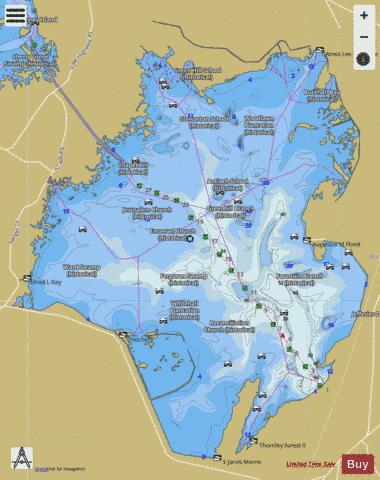 Lake Moultrie (Fishing Map : US_SC_01230046) | Nautical Charts App