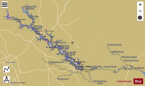 Lake Greenwood Fishing Map Us Sc 01251823 Nautical