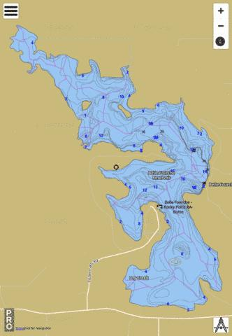 Belle Fourche Fishing Map - i-Boating App