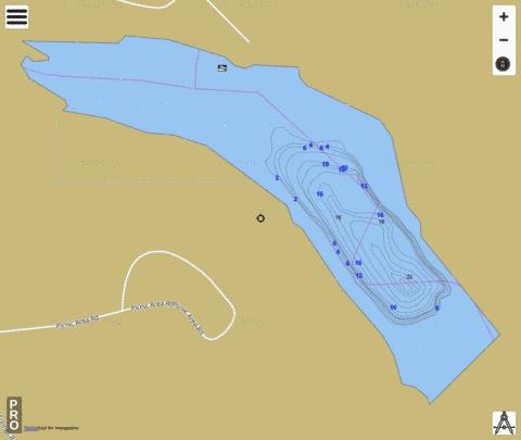 Cottonwood Springs Fishing Map - i-Boating App