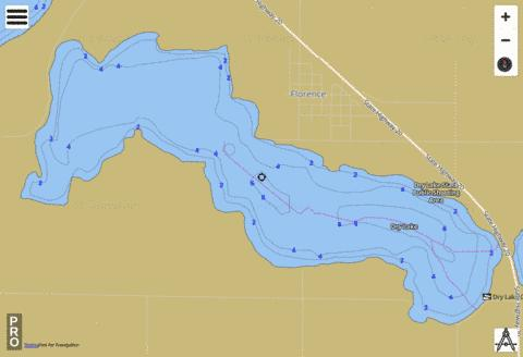 Dry Fishing Map - i-Boating App