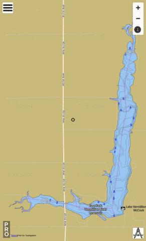 East Vermillion Fishing Map - i-Boating App