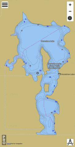 Horseshoe Fishing Map - i-Boating App