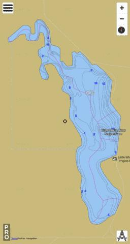 Little White River Project Fishing Map - i-Boating App