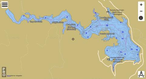 Pactola Fishing Map - i-Boating App
