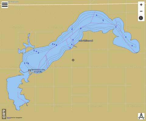 Whitewood Fishing Map - i-Boating App