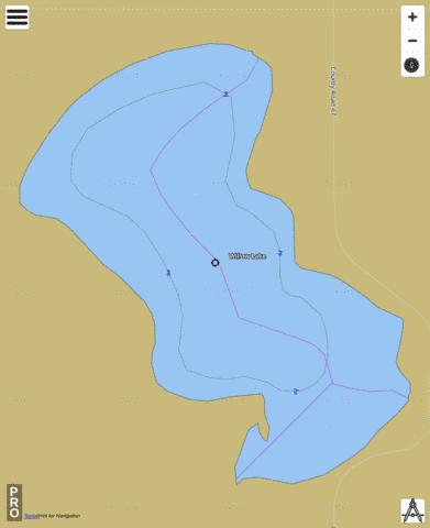 Willow Fishing Map - i-Boating App