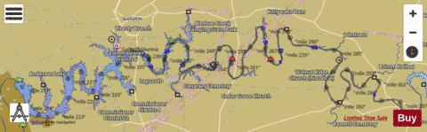 Old Hickory Lake Topographic Map.Old Hickory Lake Fishing Map Us Tn 01269839 Nautical Charts App