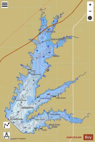 El Dorado Lake Fishing Map I Boating App