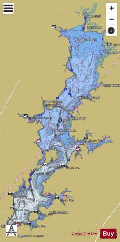 Oologah Lake Fishing Map - i-Boating App