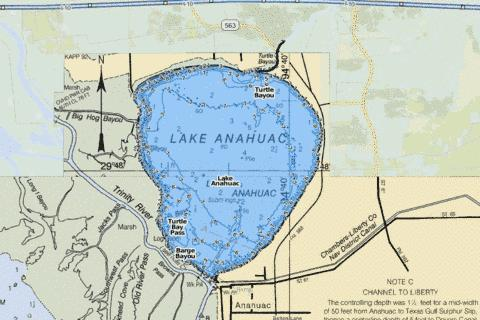 Anahuac Fishing Map - i-Boating App