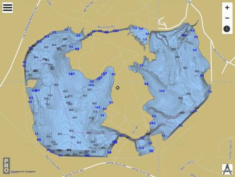 Bryan Utilities Lake Fishing Map - i-Boating App