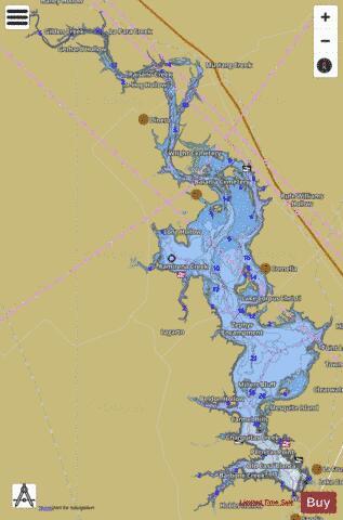 Lake corpus christi fishing map us tx corpuschristi for Best fishing spots in corpus christi