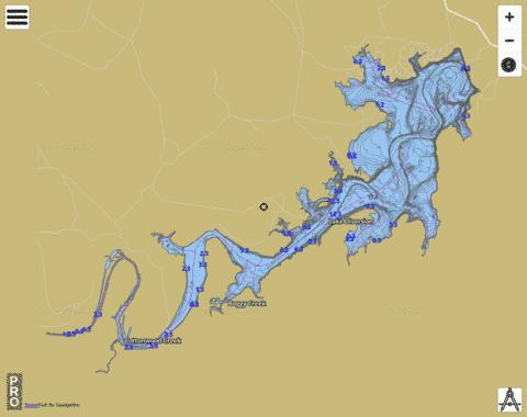 Lake Diversion Fishing Map - i-Boating App