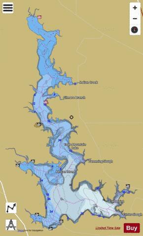 Eagle mountain lake fishing map us tx eaglemountain for Eagle lake texas fishing