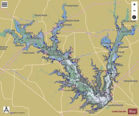 Map Of Lake Fork Texas